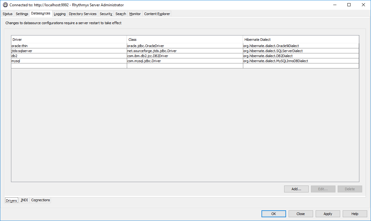 Configuring Repository and External Datasources
