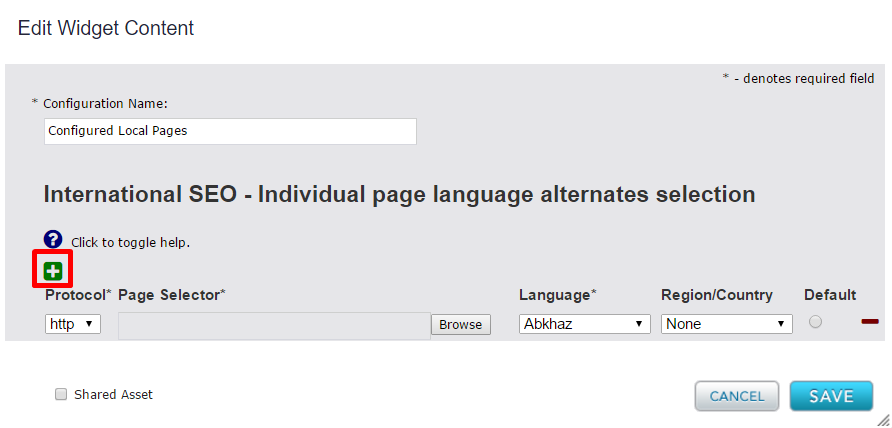 Add entry to Local Language Widget