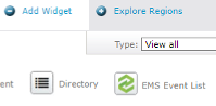 Screenshot of the EMS Event List Widget Tray Icon