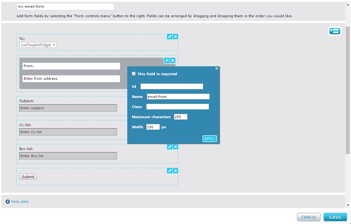 Configuring Email Form