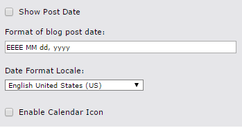 Post Date and Calendar Icon Screenshot