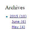 Archives Widget on Page