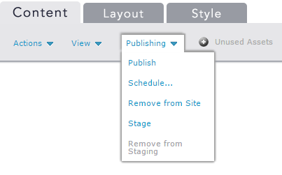 Publish on Demand Dropdown